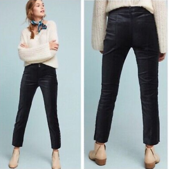 Anthropologie The Essential Velvet Slim Trouser